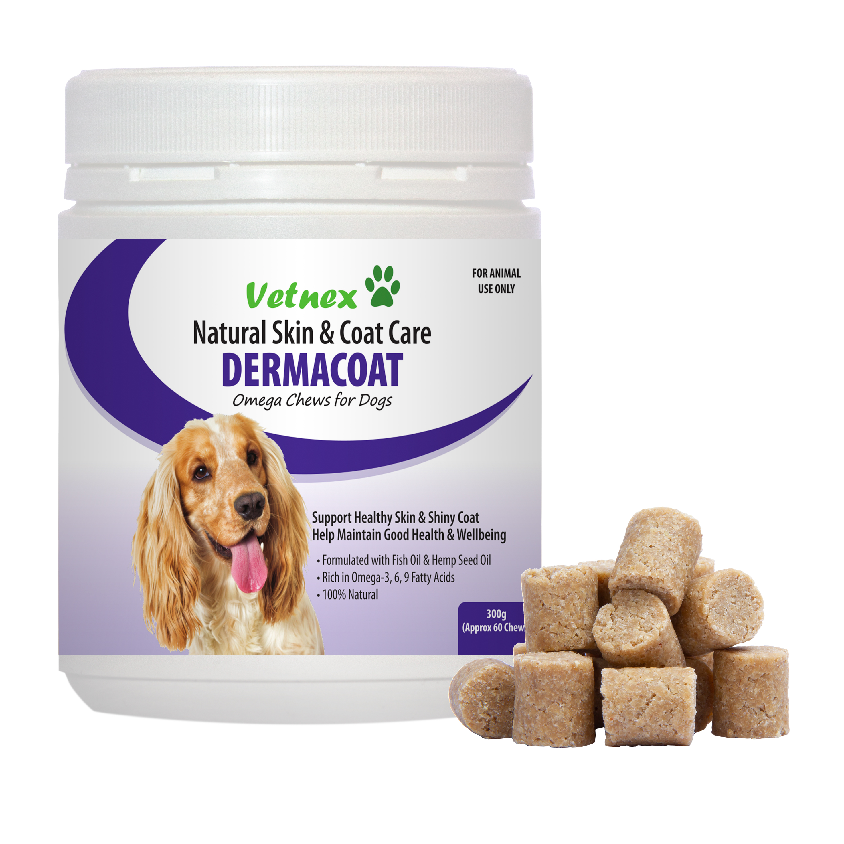 Introducing the Innovative Fish Oil & Hemp Seed Oil Soft Chew Product, DermaCoat