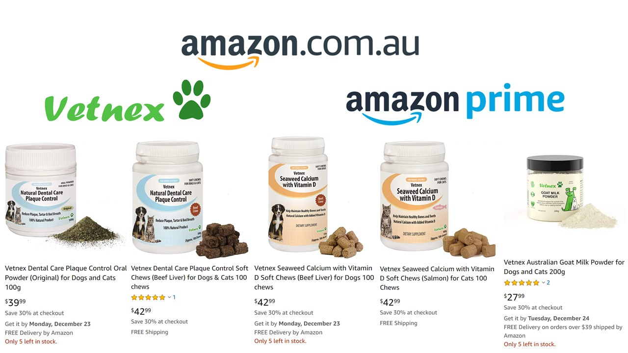 30% Off + Free Shipping for Vetnex Amazon Prime Products Before Christmas